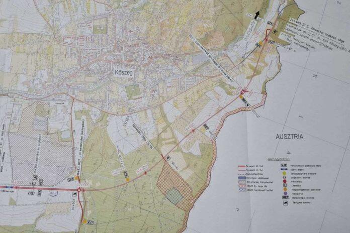 M87 -es út tervezett nyomvonala